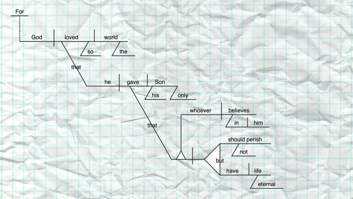 Let Not This Word Depart–3 Reasons for Diagramming the BiblicalText